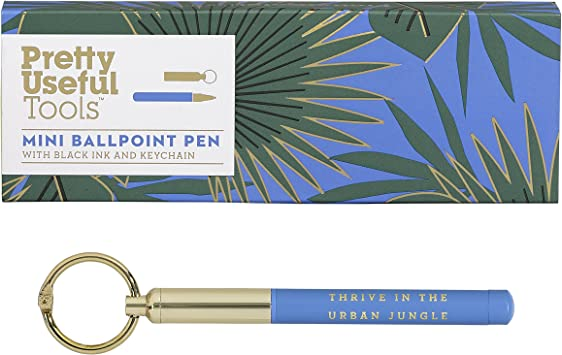 BOXED Pretty Useful Tools Mini Ballpoint Pen on a Keychain Black Ink