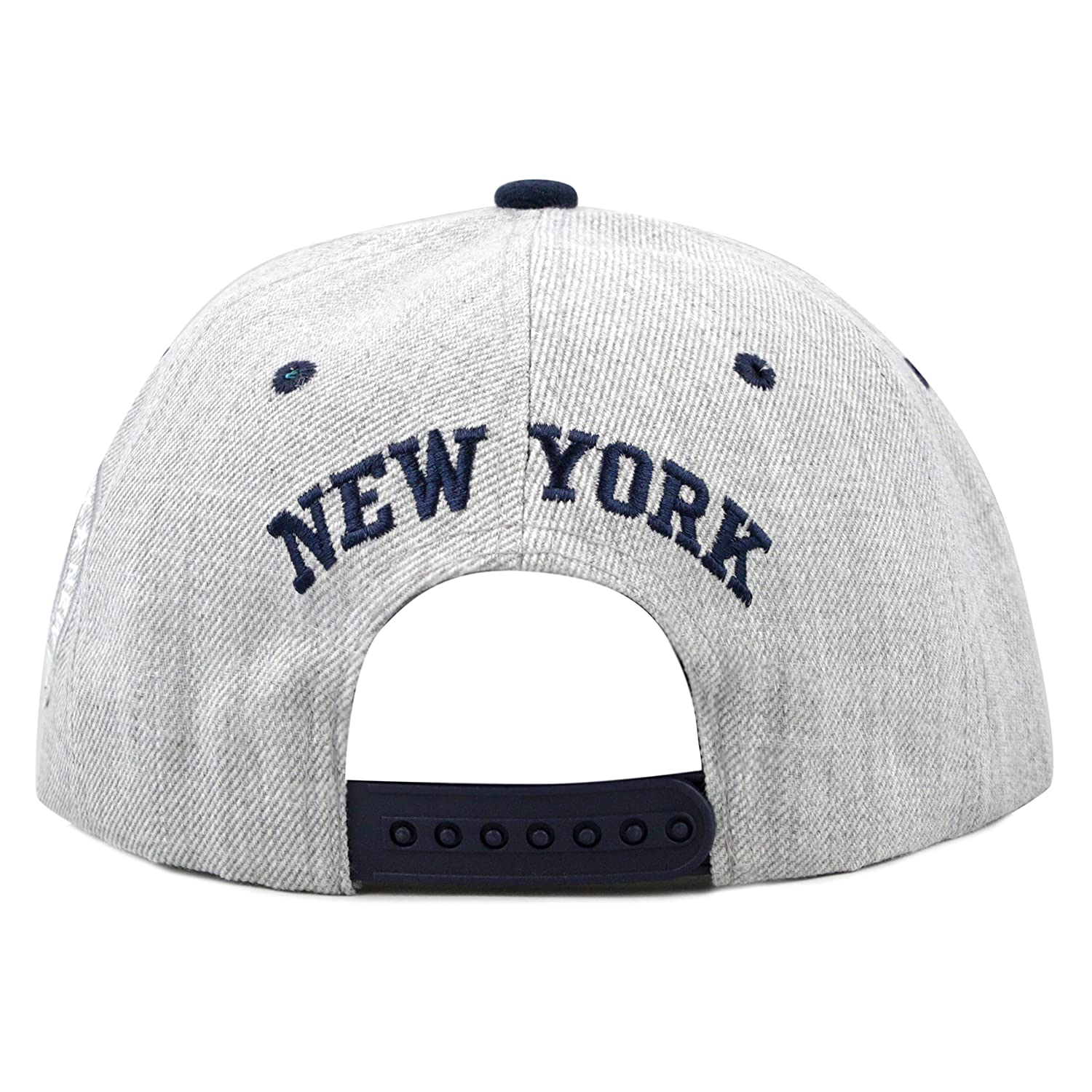 22f583b08c8cc Amazon.com  THE HAT DEPOT 1300DHGny Designed Heather Grey New York Snapback  Cap (Grey)  Clothing