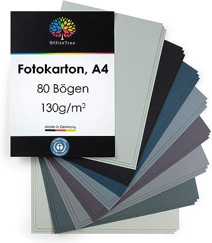 OfficeTree 80 Hojas de papel en tonos grises A4-130g/m² niños ...