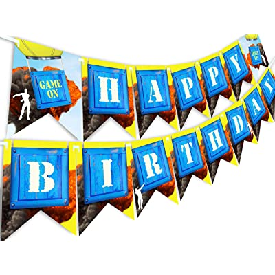 POP parties Battle Gaming Birthday Party Banner: Toys & Games