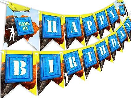 Amazon.com: Pop Party Battle - Pancarta de cumpleaños para ...