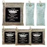 Florida Home Comfort Bamboo Charcoal Air Purifying Bag (6 Pack), Activated Charcoal Bags , Car Odor Eliminator, Closet Freshener, Odor Absorbers for Rooms