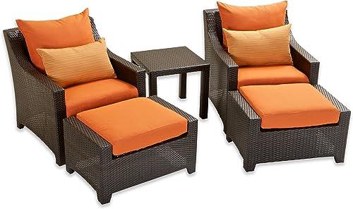 RST Brands OP-PECLB5-TKA-K Deco 5pc Club Chair Ottoman Set – Tikka