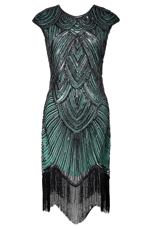 BABEYOND Women's Flapper Dresse 1920s Beaded Fringed Great Gatsby Dress