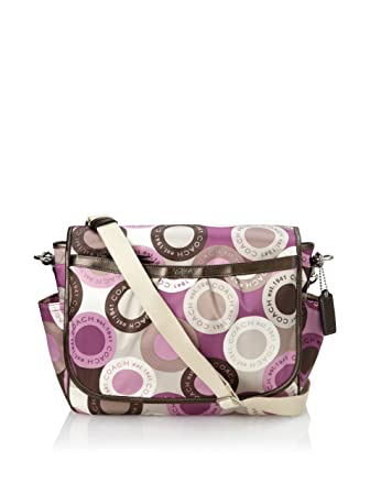 0b6b8c1e60a0 Amazon.com   Coach Snaphead Signature Baby Diaper Messenger Bag Purse Tote  18377 Pink Multi   Baby