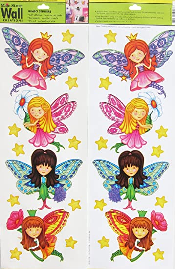 Lovely Main Street Wall Creations   Jumbo Stickers   Fairies Part 9