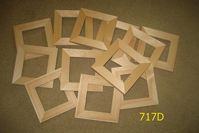 Amazon.com: 12 Unfinished-5x5 wood picture-frames-wide-moulding ...