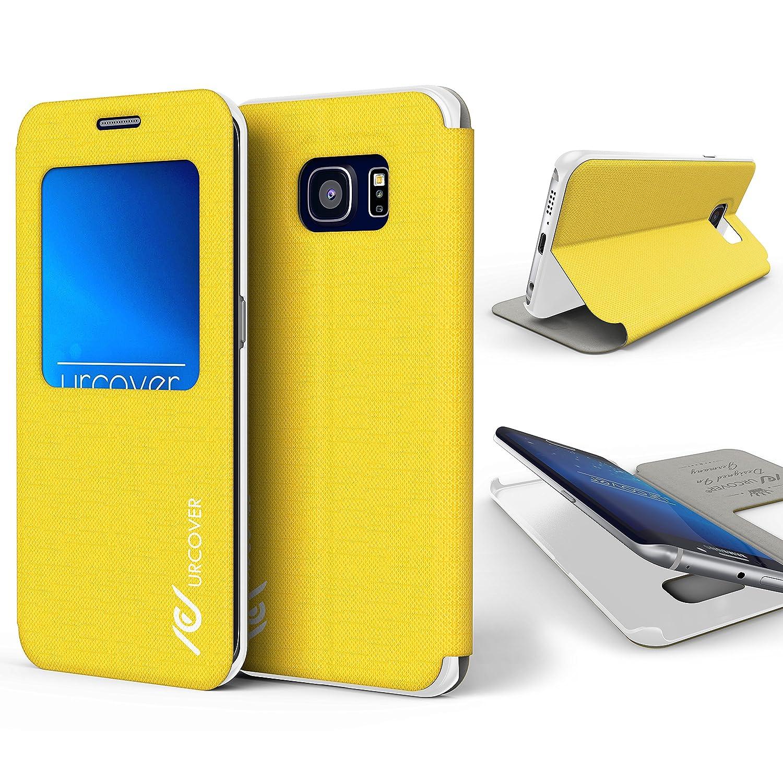 Urcover® Funda Compatible con Samsung Galaxy S6 Edge Plus S-View Carcasa con Tapa Libro Funcion Soporte, Flip Case Delgada protección Pantalla con ...