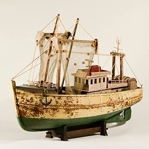 Wooden Fishing Boat Ornament by stock 4 u