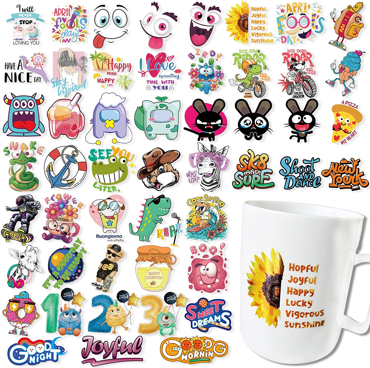 150pcs Clear Stickers Pack, 50 Transparent Stickers for Laptop + 100pcs Mini Stickers, Cute Small Stickers for Water Bottles, Reflective Trendy Decals for Scrapbook, Tenns, Adults