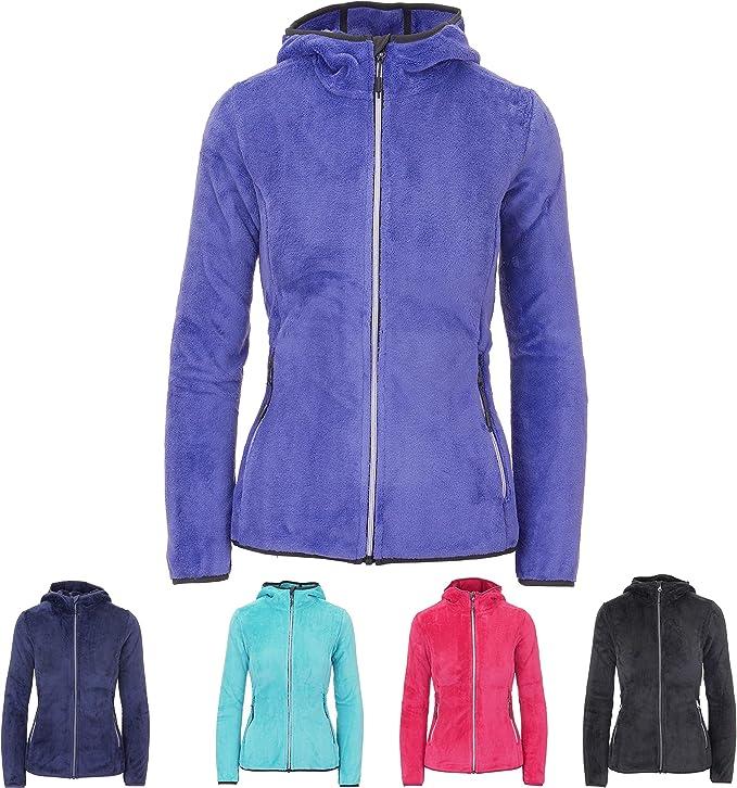 CMP Sweatjacke Sportjacke Übergangsjacke blau Kapuze Zipper Taschen