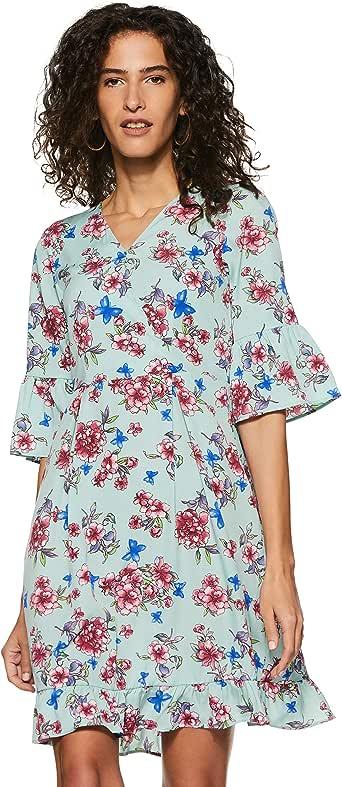 Styleville.in Georgette Skater Dress for women