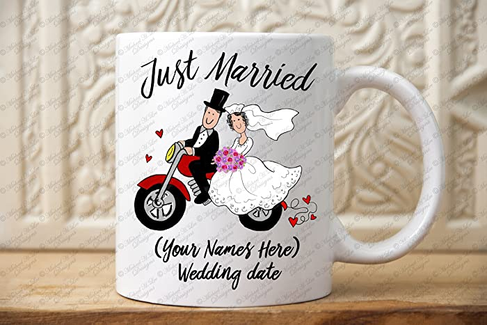 f6fccbb9f Amazon.com  Just Married Wedding Gift