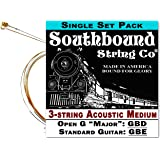 Acoustic Medium 3-String Cigar Box Guitar Strings - Open G/Standard