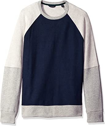 Nautica Mens Slim Fit Color Blocked Sweatshirt