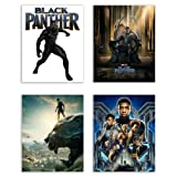 Amazon Price History for:Black Panther (2018) Movie Poster Prints - Set of Four Avengers Marvel Comics Wakanda Decor Wall Art Photos 8x10