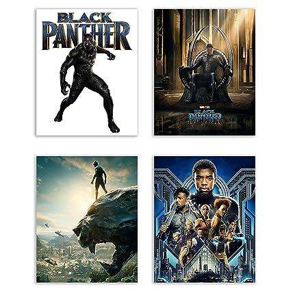 Black Panther (2018) Movie Poster Prints - Set of 4 Avengers Marvel Comics Wakanda  sc 1 st  Amazon.com & Amazon.com: Black Panther (2018) Movie Poster Prints - Set of 4 ...