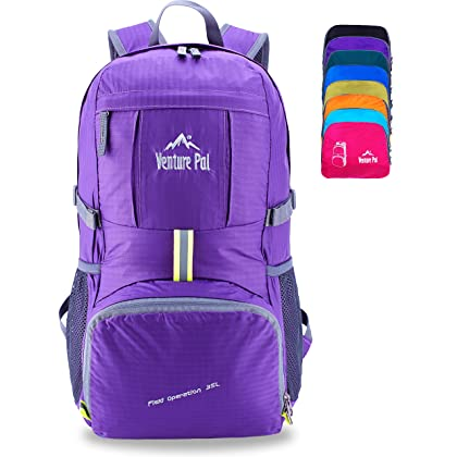 Venture Pal Lightweight Packable Durable Travel Hiking Backpack Daypack  (Purple) … 88025ba57975f