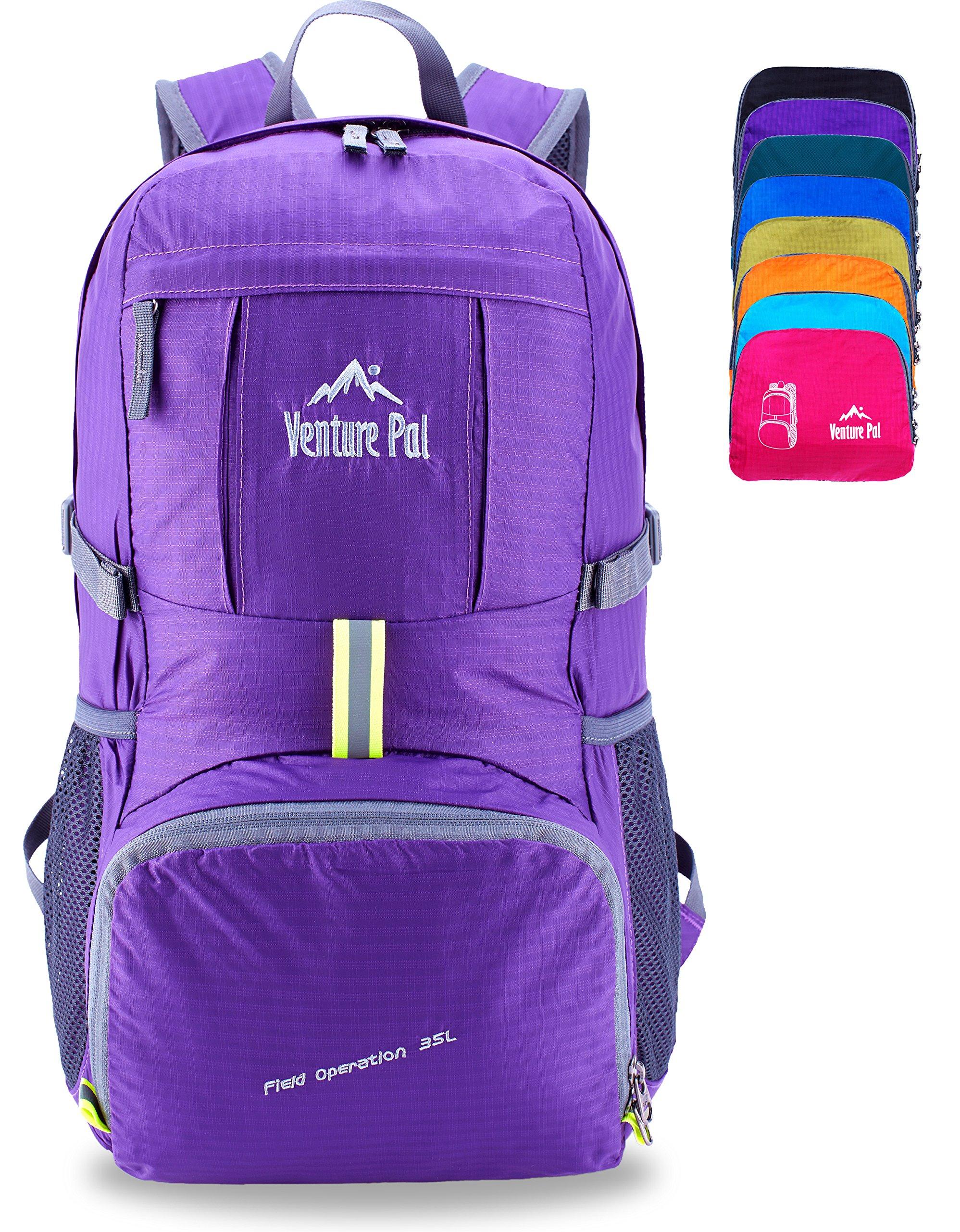 Venture Pal Lightweight Packable Durable Travel Hiking Backpack Daypack (Purple) …