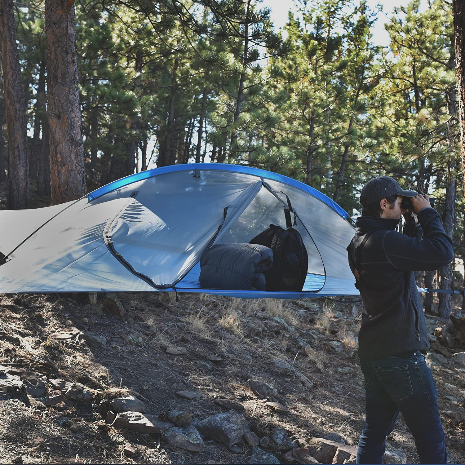 Stay High and Dry in the Great Outdoors With the Apache Naki 2-Person Tree Tent C&ing Hammock & Use Apacheu0027s Tree Tent Hammock To Keep You High and Dry | SPY