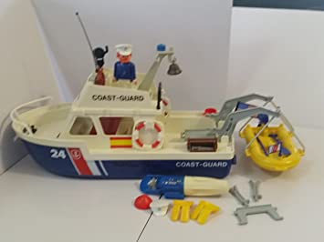 Amazon playmobil 3599 coast guard boat vintage replacement set playmobil 3599 coast guard boat vintage replacement set with life boat fandeluxe Gallery