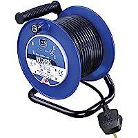 Masterplug LDCC2513/4BL-MP LDCC2513/4BL 13amp 4 Socket 25m Open Cable Reel-Blue, 240 V