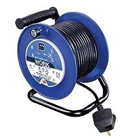 Masterplug LDCC2513/4BL 13amp 4 Socket 25m Open Cable Reel - Blue