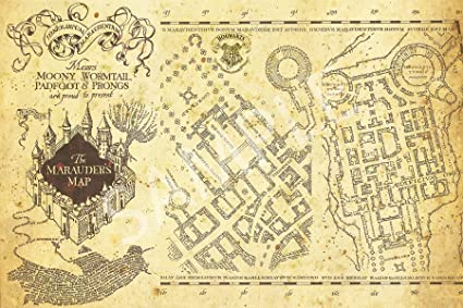 photo relating to Harry Potter Marauders Map Printable identified as : Suitable Print Shop - Harry Potter Encouraged