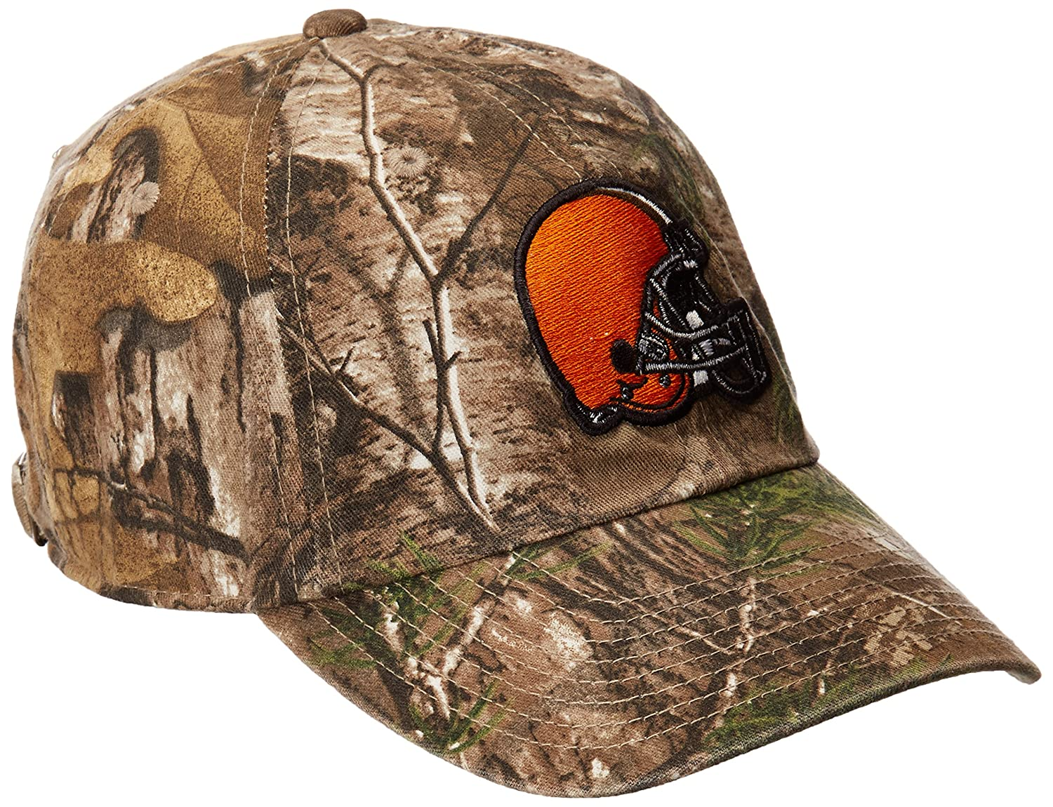 low priced a9755 96c42 ... usa 47 brand nfl cleveland browns big buck clean up adjustable hat  realtree camouflage one size