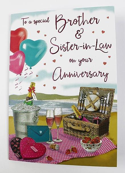 Tarjetas de aniversario de boda ~ hermana y hermano en derecho tarjetas de aniversario ~