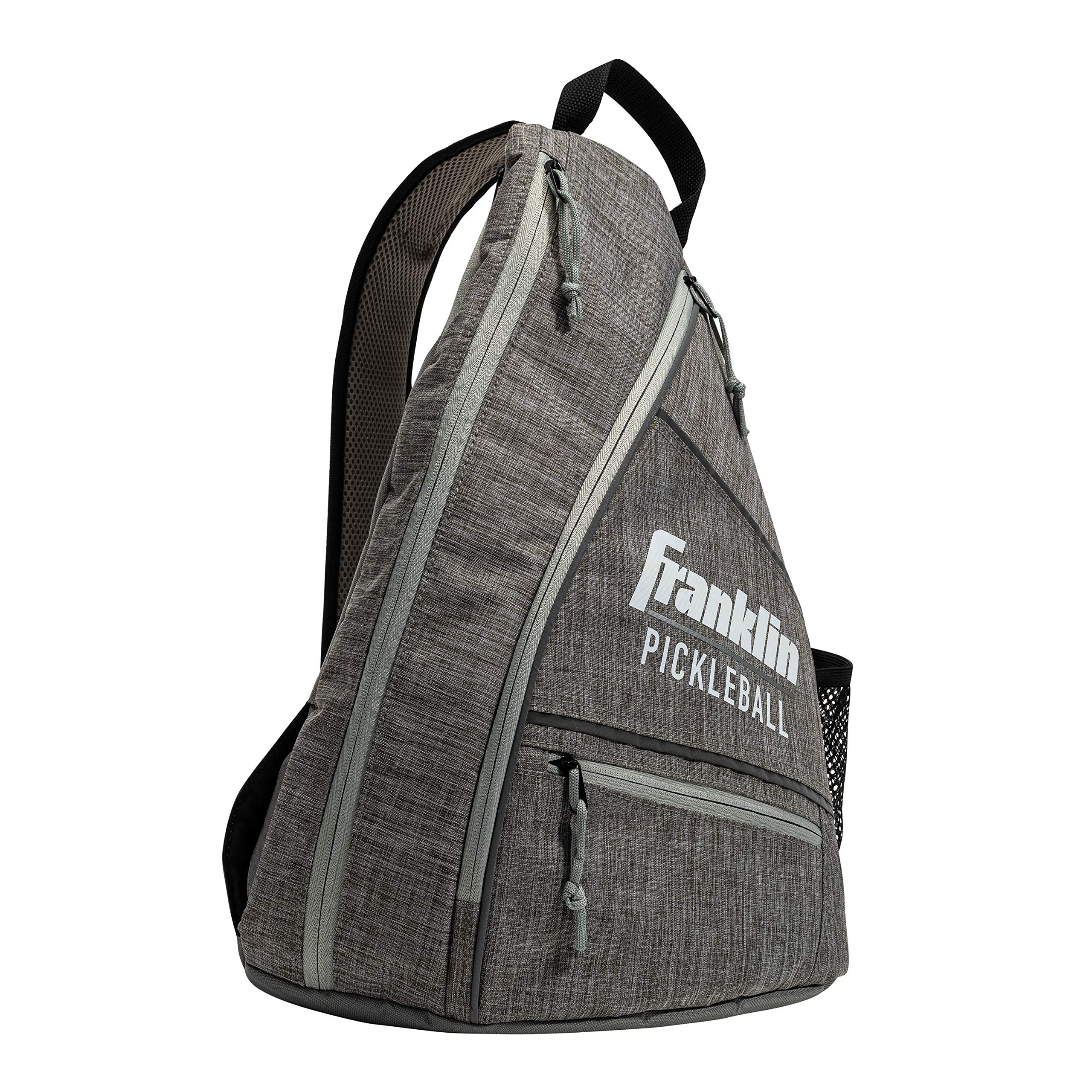 Franklin Sports Pickleball Bag - Men's and Women's Pickleball Backpack - Adjustable Sling Bag - Official Bag of U.S Open Pickleball Championships - Gray/Gray by Franklin Sports