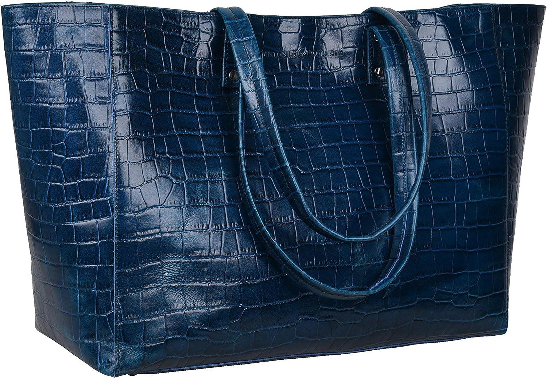Antonio Valeria Ava Leather Leather Tote/Top Handle Shoulder Bag for Women