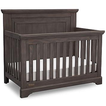 Simmons Kids SlumberTime Paloma 4 In 1 Convertible Crib Rustic Grey