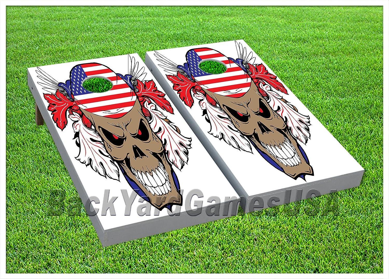 スカルコーンホールビーチバッグ トスゲーム バッグ付き ゲームボード USA バンダナセット 648 B074T3LVJJ