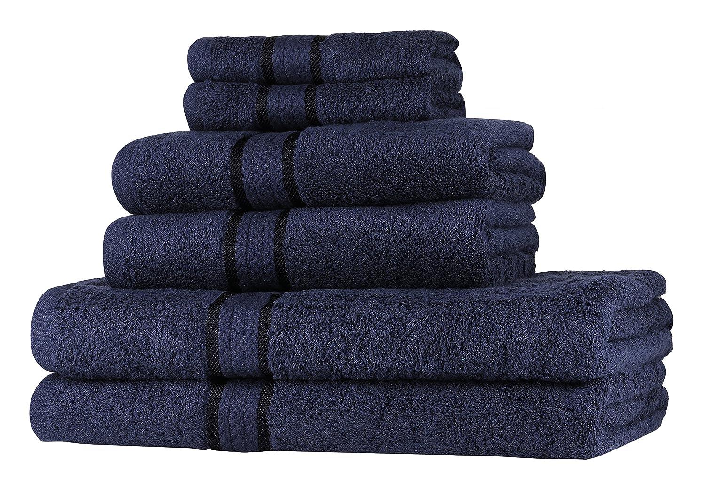 SweetNeedle Super Soft - Paquete de 4 toallas de mano 50x90 Carbón, 580 GSM - 100% algodón puro Ringspun - Borde de rayón de lujo - Ideal para uso diario ...