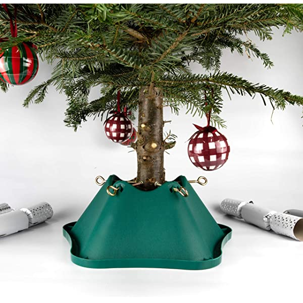 Airflow Needle Stop Watering Real Christmas Tree Stand Red//Black Medium