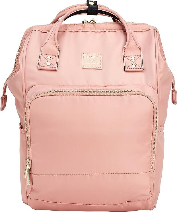 Kah Kee Nylon Rucksack Mit Laptopfach Wasserdicht Wickeltasche Universität Für Damen Herren Nude Pink Koffer Rucksäcke Taschen