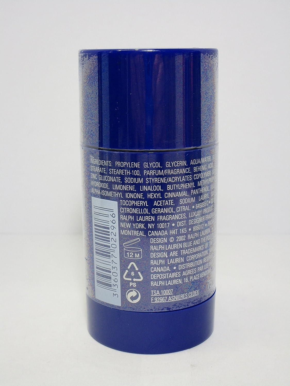 Ralph Lauren Polo azul libre de alcohol Desodorante Stick 2.6oz 75 ...