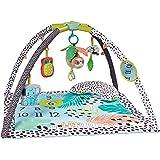 Infantino 4-i-1 Milestones & Memories lekmatta – sensorisk stimulerande lekfilt för spädbarn och småbarn – Activity Gym…
