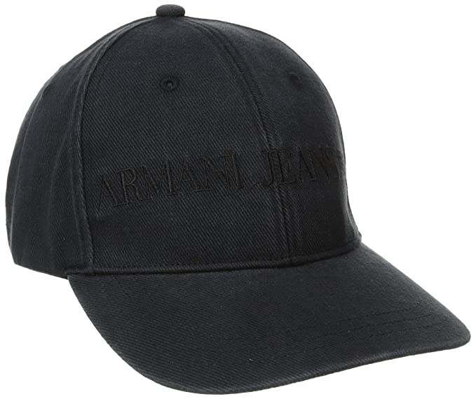 fc89272c Armani Jeans Men's XE Logo Baseball Cap, Black, Small: Amazon.in: Clothing  & Accessories