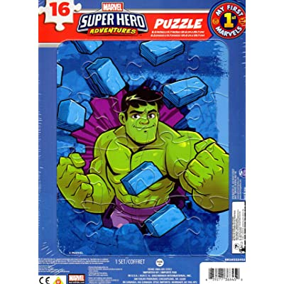 Marvel Super Hero Adventures - 16 Pieces Jigsaw Puzzle - v6: Toys & Games