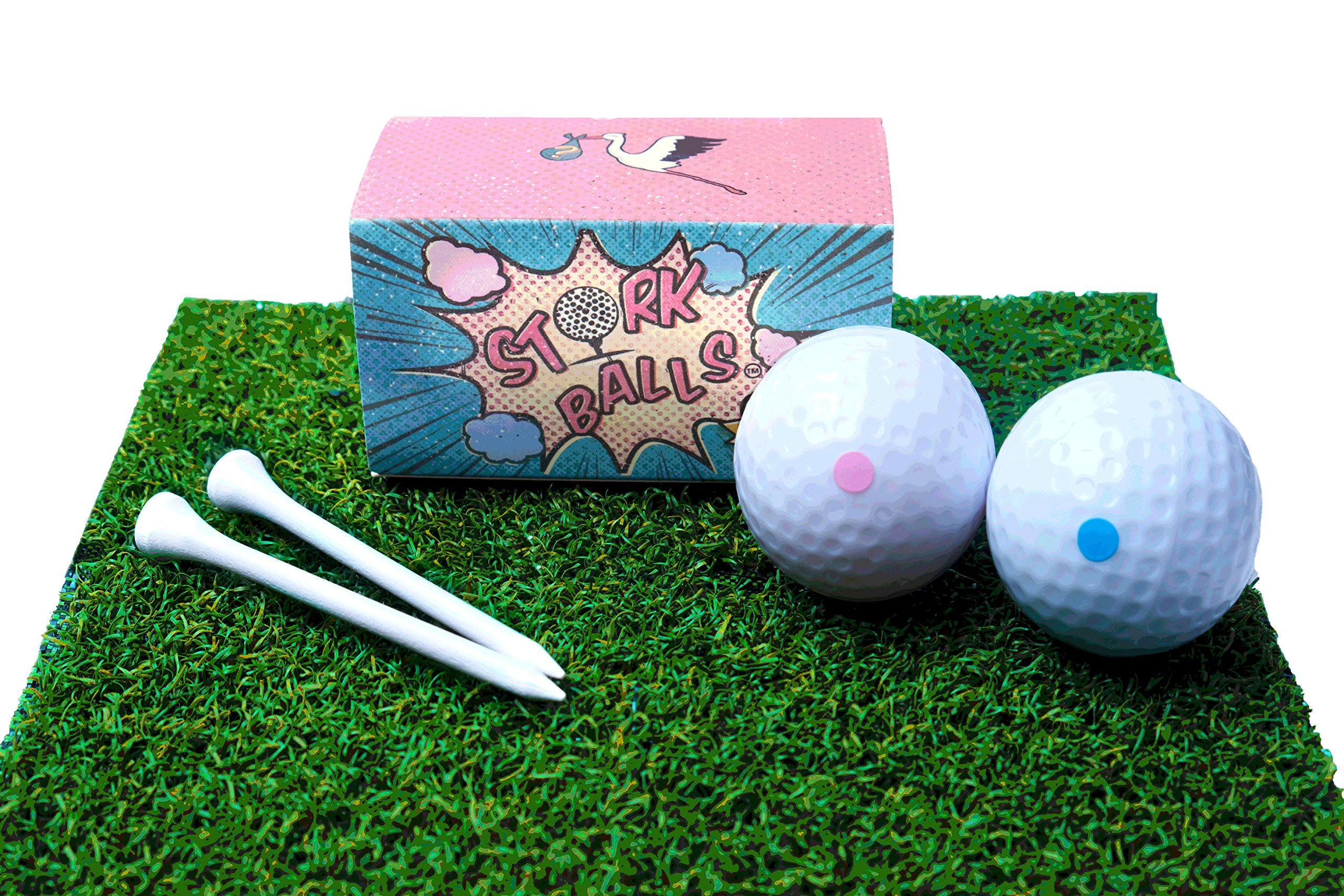 Gender Reveal Golf Balls Exploding- Gender Reveal Party, For Golf Enthusiasts, 1 Blue Golf Ball and 1 Pink Golf Ball, 2 Golf Tees Included!, Surprise Fun for Expecting Mom and Dad
