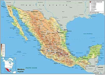 Cartina Politica Messico.Mexico Planisfero Fisico Carta Plastificata Ga A0 Size 84 1 X 118 9 Cm Amazon It Cancelleria E Prodotti Per Ufficio