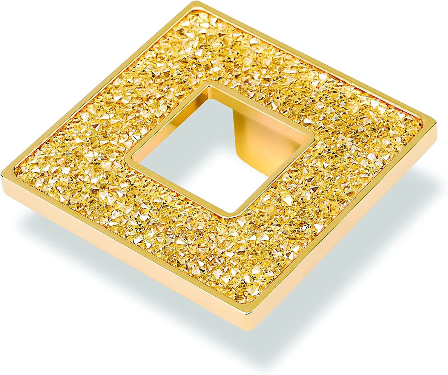 TOPEX HARDWARE P2084.33ORZSWA TOPEX HARDWARE P2084.33ORZSWA Round Knob with Hole and Swarovski Crystals Gold Gold Small Small
