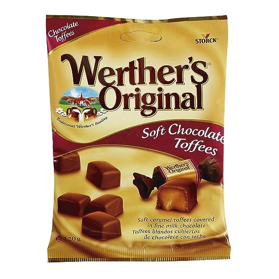 WERTHER`S Original caramelos toffees blandos recubiertos bolsa 120 gr