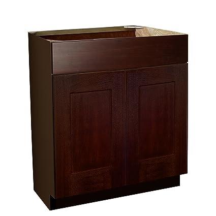 Shaker Panel Door Style Vanity Sink Base 24 Wide 18 Deep