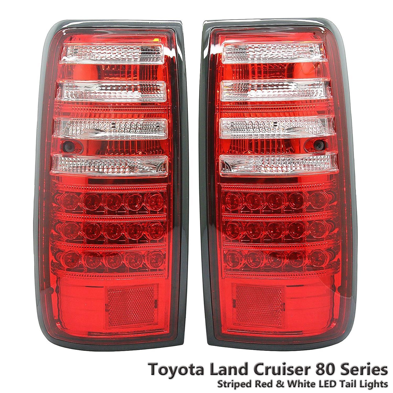 Amazon.com: LED Red & White Tail Light Lamp Fits Toyota Land Cruiser J80  Series FJ80 HZJ80 Lexus LX450 90-97: Automotive