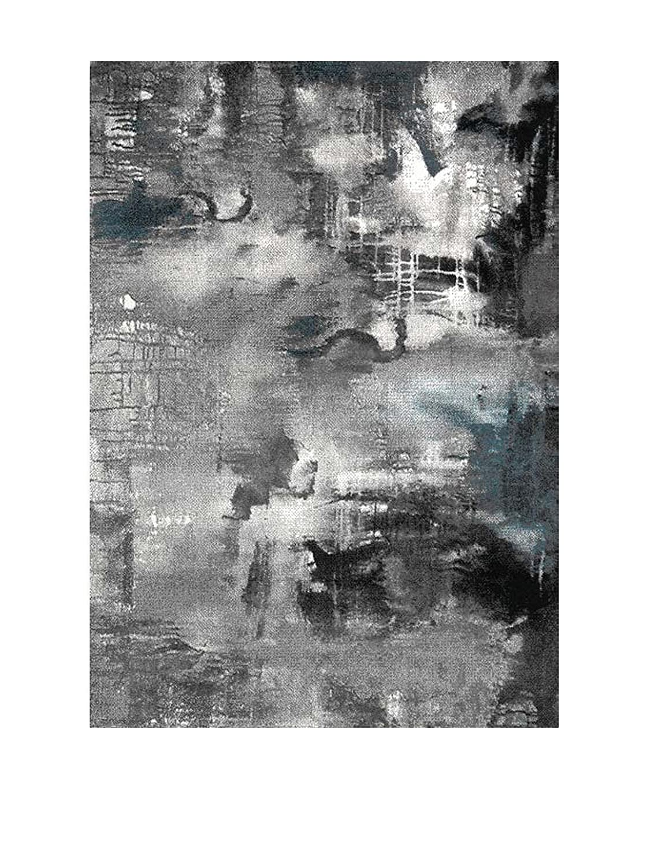 Wink Design Nebula Tappeto Bagno/Scendiletto, Polipropilene, Grigio, 60x110x0.1 cm Tomasucci 2987 2987_Multicolore