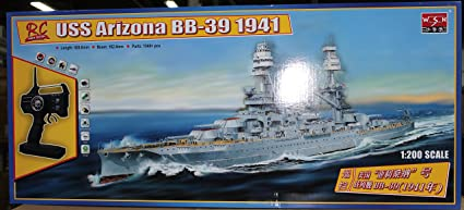 Amazon com: USS Arizona 1/200 Complete Radio Controlled Ship Model