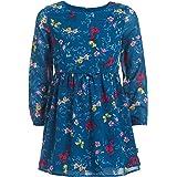NAUTICA Girls Girls' Long Sleeve Floral Dress Long Sleeve Casual Dress - Blue